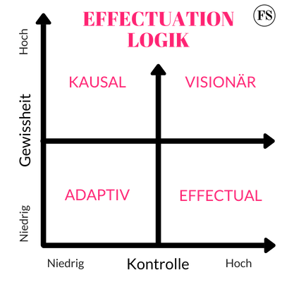 Diagramm der Effectuation Logik